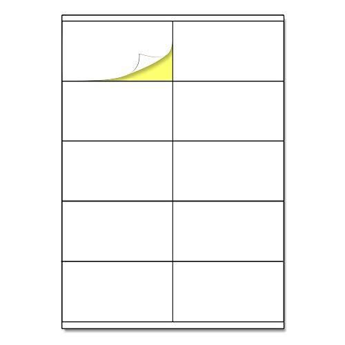 105 x 57 mm, 25 hojas, A4 Etiqueta Adhesiva Blanca Pegatina - 10 etiquetas por hoja