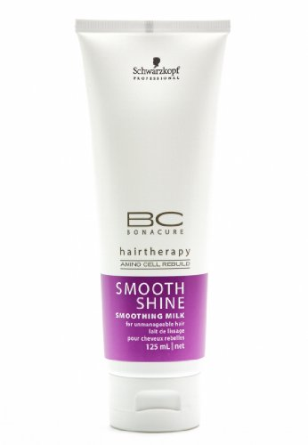 Schwarzkopf Professional Lait de Lissage pour Cheveux Rebelles Smooth Shine Haitherapy Amino Cell Rebuild BC Bonacure 125ml