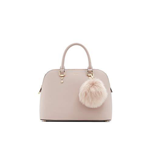 ALDO Women's Galilini Dome Satchel Handbag, Light Pink