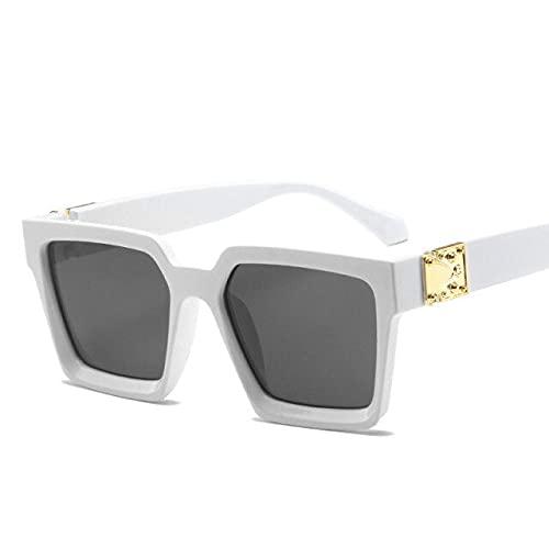 2021 cuadrados gafas de sol hombres marca de lujo diseñador hombres gafas lujo retro alta calidad Uv400