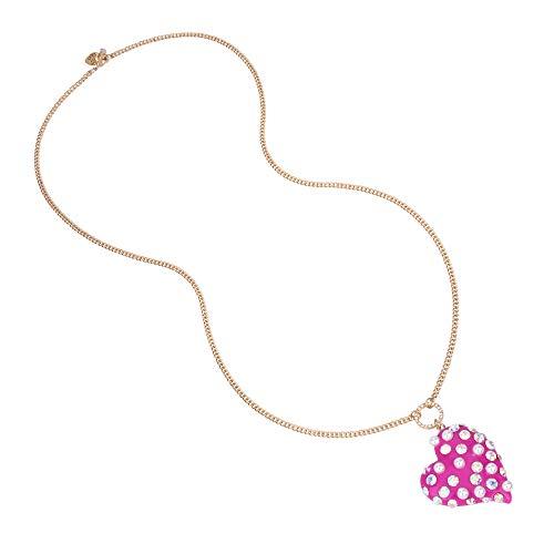 Betsey Johnson Collar Largo con Colgante de corazón de Perlas