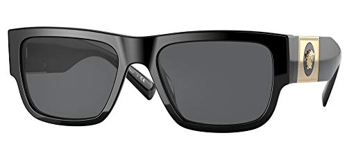 Versace VE4406, negro (Negro/Gris oscuro), Talla única