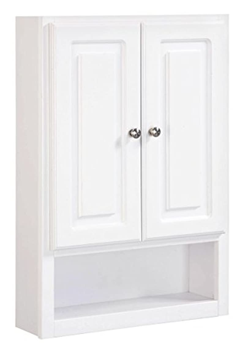 Design House 531319 30-Inch by 21-Inch Concord Ready-To-Assemble 2 Door with Shelf Wall Bathroom Cabinet, White