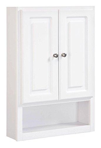Design House 531319 Concord 2-Door Wall Bathroom Cabinet 21', White