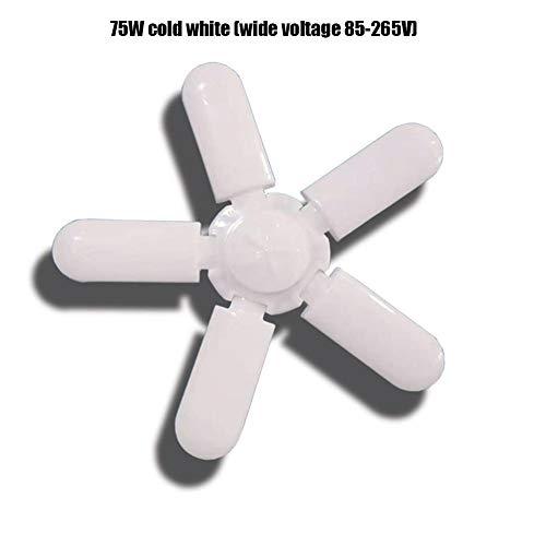 luckything 2020 Garagehamp met vijf ventilatoren, superheldere verstelbare garagelamp 75 W schroeven garageplafondverlichting voor garage, werkplaats, magazijn wondeful 85-265V Een