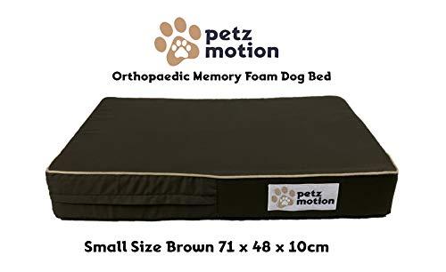 Petzmotion Premium Orthopädische Hundematratze aus Memory-Schaum, Wasserdichte Innenseite, waschbarer Bezug, ideal für Arthritis von Haustieren, Hüftdysplasie etc.