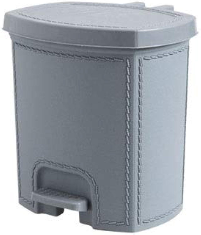 tienda en linea Alppq Tipo de pedal Cubo de basura basura basura Papelera de basura multifunción PP Cubo de basura de cuero artificial con tapa Basura cuarto de bao de la cocina Contenedores de basura rectángulo Bote de basura Bo  n ° 1 en línea