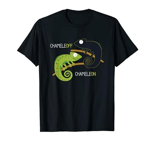 Chameleon Chameleoff I Reptil Echse Terrarium Haustier T-Shirt