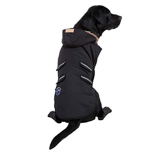Savlot Hund Wintermantel, Haustier Kleidung Haustier Herbst und Winter Verdickung reflektierende Jacke für große Hunde, Hund Kälte Kostüme Night Walking Coat