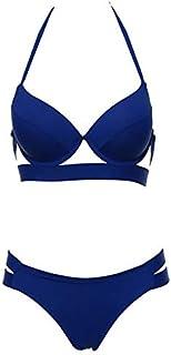 ADYOGER Swimsuit Bikinis Women Bandage Swimsuit Bikini Push Up Swimwear Low Waist Bathing Suit Halter Bikinis Suit Swim