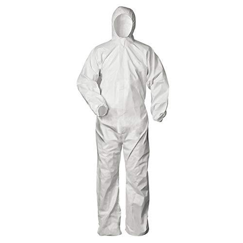 Tuta protettiva contro i rischi infetti, colore: bianco, taglia : XXL