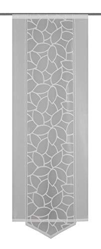 Home Fashion Schiebevorhang, Polyester, Weiß, 160x57 cm