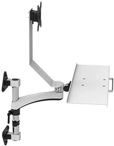 CHUANG Soporte para Monitor de computadora con Bandeja para Teclado, Soporte de Montaje en Pared de Doble Pantalla para Mesa de elevación de Oficina Vertical y para Sentarse, diseño ergonómico