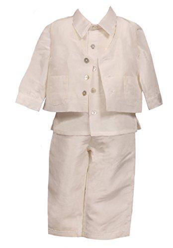 Heritage - Costume de baptême - Bébé (garçon) 0 à 24 mois Ecru Antique White - Ecru - S