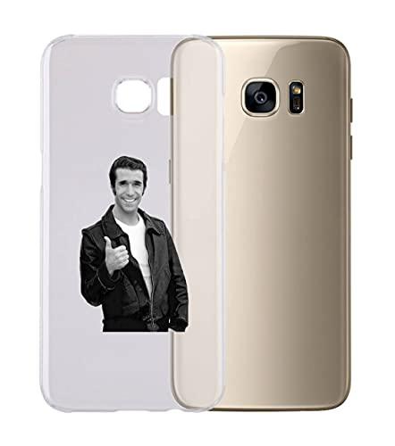 Social Crazy Cover Cover Compatibile con Tutti i Modelli di Samsung - Fonzie - con Protezione della Fotocamera Custodia Trasparente Ultra Sottile (Samsung Galaxy S5, Trasparente)