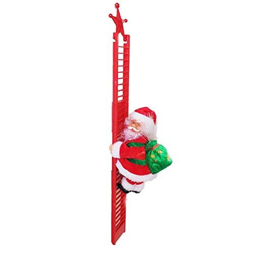 Escalada de Papá Noel, Papá Noel, escalada eléctrica de Navidad, juguete de muñecas, decoración de Navidad, decoración de Navidad