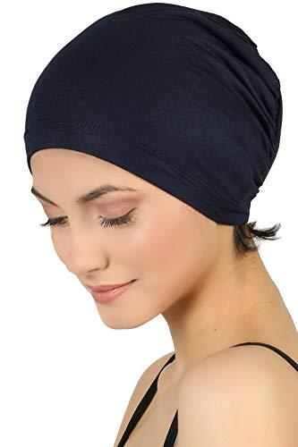 Deresina Unisex Kappe Aus Baumwolle Fur Haarverlust, Chemotherapie (Marine - One Size)