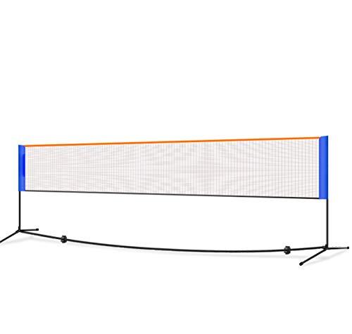 AMhuui Badminton Net Tragbares Netz, Volleyball Tennisnetz Easy Setup Sports Net Mobil Badminton Net-Rack für Kinder Erwachsene Outdoor Sports Hallenplatz, Hinterhof, Strand