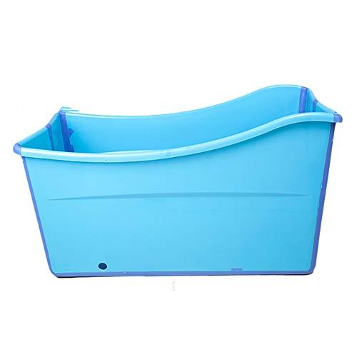Babybadkuip Draagbare badstoelen voor volwassenen Verruimd Verdikt Slijtvast en duurzaam Opvouwbaar bad voor babybadje Emmer Zwembad Waskom,Blue
