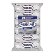 Kraft Philadelphia Cream Cheese Spread - Pouch, 50 to 1 Ounce -- 6 per case.