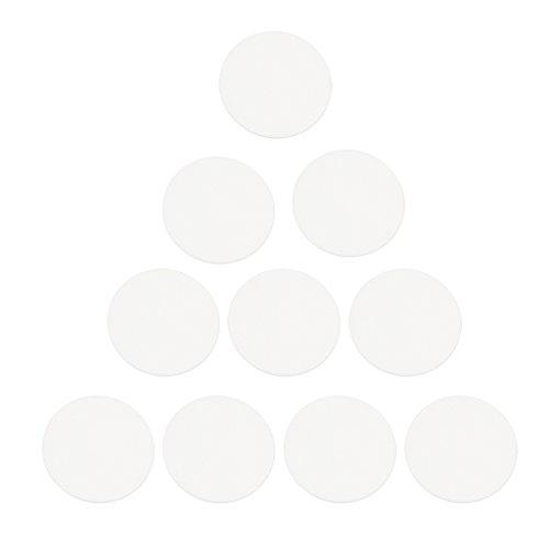 IPOTCH Paquete de 10 Relojes Redondos de Cristal Plano, Piezas de Reloj,...