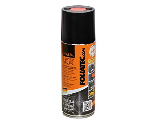 Foliatec Universal 2K Lackspray, für 4 Bremssättel, Hitzebeständig, Schwarz Glänzend, 400 ml