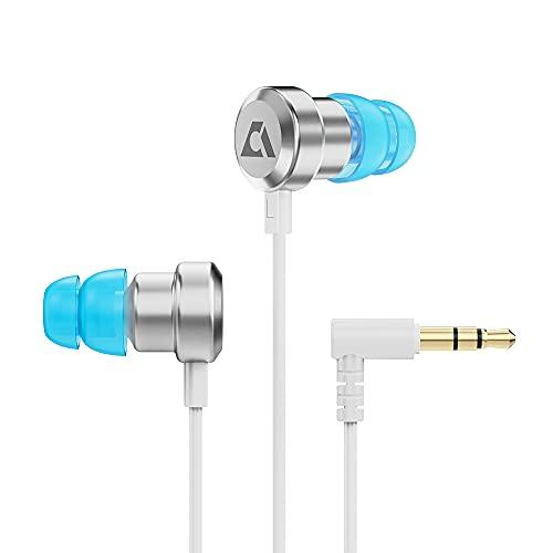 1Mii Oculus Quest 2 Headphones, VR Headphones for Oculus Quest 2/Oculus Rift S, Stereo Quest 2 Earbuds with Dual Speakers 10mm & 6mm, 3D 360 Degree Sound, Custom Length Cable White
