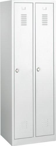 Lüllmann Spind Spint Stahl-Kleiderschränke Gaderobenschrank 510100/2 türig 250mm kompl. montiert und verschweißt