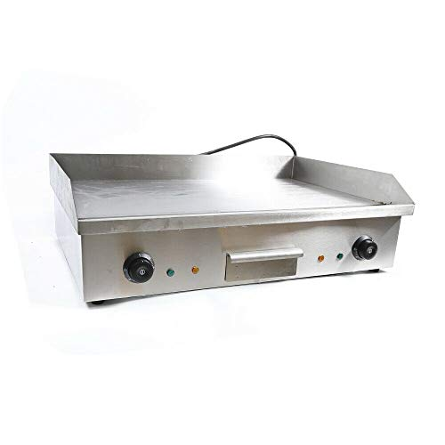 DYRABREST 4400W 110V Electric Countertop Griddle Flat Top Commercial Restaurant Grill Flat Hotplate Home BBQ Grill Non-Stick Commercial Restaurant Teppanyaki Grill Stainless Steel BBQ Grill Machine
