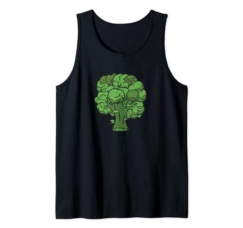 Brcoli Forever - Disfraz de verdura divertida y saludable Camiseta sin Mangas