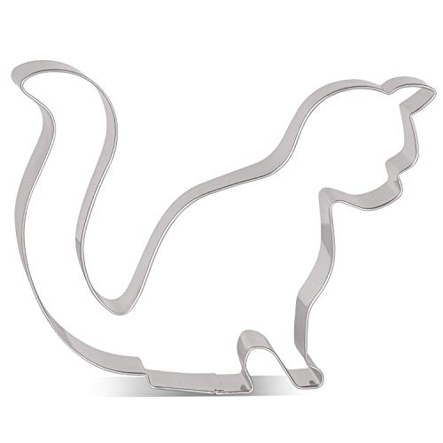 LILIAO Sitting Cat Cookie Cutter - 4.7 x 3.9 inches - Stainless Steel