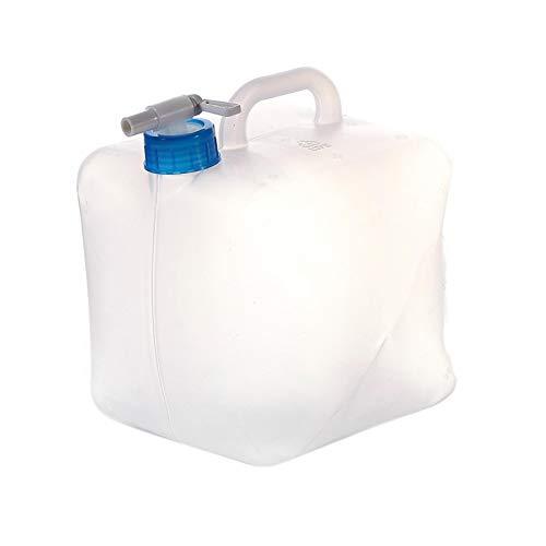 Cubo de agua plegable de polietileno de 20 l, cubo telescópico con grifo, depósito de agua sin BPA para camping en Hurricane Flood Earthquake