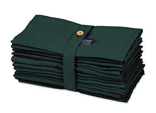 S4Sassy grön solid heminredning 12 x högtidsfester duk bord linne återanvändbar middag servettset