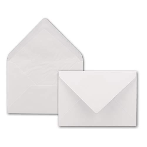 Briefumschläge DIN B6-125 x 176 mm - Superweiß mit weißem Seidenfutter - 50 Stück - EXTRA QUALITÄT - 100 g/m² - - Für ganz besondere Anlässe - Nassklebung - Marke: GUSTAV NEUSER