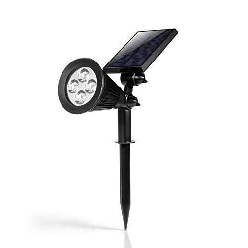 Hoont 2-in-1 Bright Outdoor LED Solar Spotlight/Solar Powered Light...