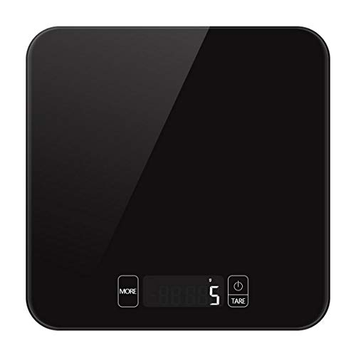 FREELX Báscula de Cocina Digital con Pantalla LCD de Precisión, Superficie de Vidrio Templado, Báscula Electrónica Digital Inteligente Multifunción para el Hogar y la Cocina