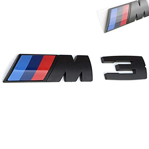 3D Car M3 M5 ABS Rear Trunk Emblem Badge Sticker Decals for BMW 3 5 Series (Black M3)