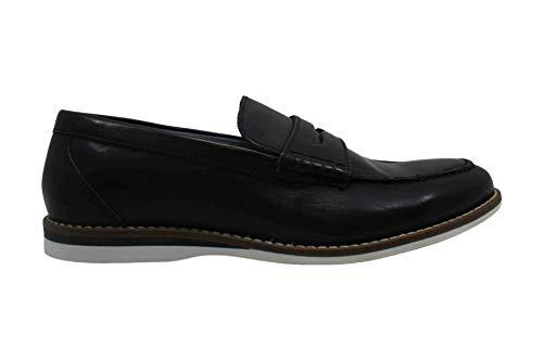 Alfani Mens Wagner Leather Closed Toe Slip On Shoes Black