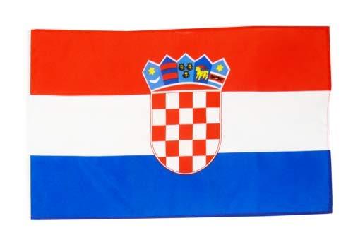 FlagSuperstore© Kroatien-Bootsflagge 45 x 30 cm – Baumhäuser, Wohnwagen – Ärmel 45 x 30 cm – Land