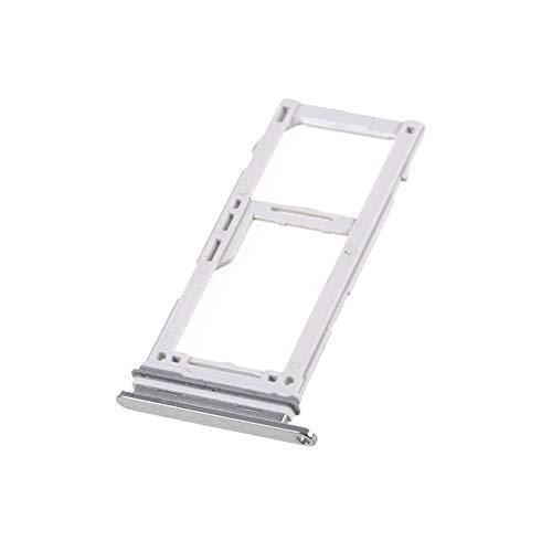jbTec SD-Card/Dual SIM-Tray/Halter passend für Samsung Galaxy S10/Plus/S10e - Slot Karte Schlitten Rahmen Holder Handy, Farbe:Silber