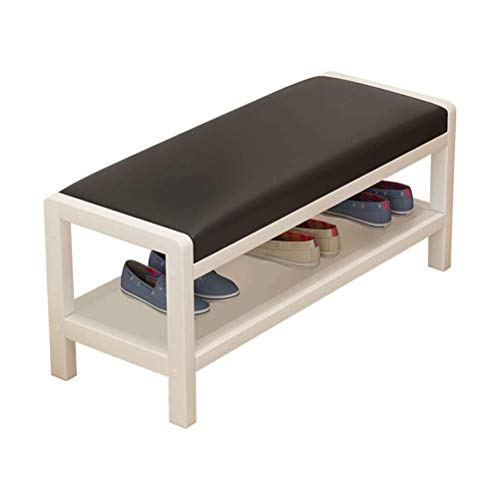 HEMFV Simplifique el banco de almacenamiento, Bastidores de zapatos taburete de madera maciza de zapatos zapatero almacenamiento de las heces en la puerta Sit-en el zapato de almacenamiento en rack de