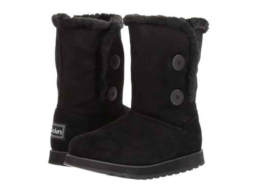 降下エレクトロニック四回SKECHERS(スケッチャーズ) レディース 女性用 シューズ 靴 ブーツ スタイルブーツ アンクル ショートブーツ Keepsakes - Sole Seeker - Black [並行輸入品]