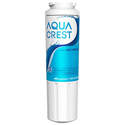 AQUACREST UKF8001 Refrigerator Water Filter, Replacement for EveryDrop Filter 4, Maytag UKF8001P, Whirlpool UKF8001AXX-750, UKF8001AXX, 4396395, 469006, EDR4RXD1, Puriclean II (package may vary)