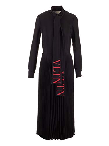 Valentino Luxury Fashion Damen SB3VAN854NK0NR Schwarz Viskose Kleid | Herbst Winter 19