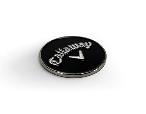 Callaway Golf Unisex's 2020 Callaway Magnetic Alignment Ball Marker, Black/White, One Size