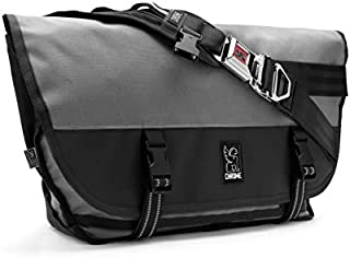 Chrome Industries Citizen Messenger Bag - Simple & Durable Satchel Bag | Keep Cargo Secure With Our Iconic Seat Belt Buckle | 26L - Gargoyle Grey