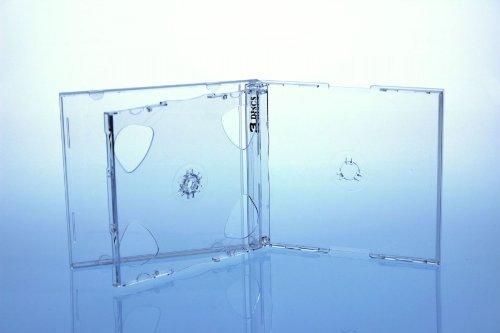 5 CD/DVD Jewelcase 3fach 3er / Hüllen für 3 Disc/glasklar/transparent