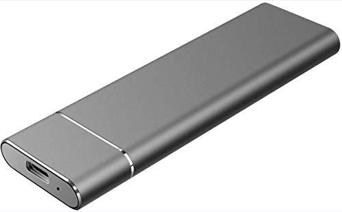 External Disque dur externe 1 To 2 To 3 To, USB 3.1/Type-C Slim Hard Disque dur de stockage Compatible avec PC, ordinateur portable et Mac (1 To Black)