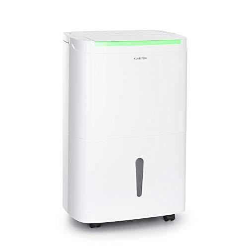 Klarstein DryFy Connect Luftentfeuchter Dehumidifier Kompressionsluftentfeuchter, WiFi-Schnittstelle, 230 m³ Luftumwälzung pro Stunde, Entfeuchtungsleistung 40 l pro Tag, weißes Designgehäuse