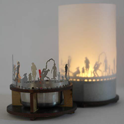 13gramm Hunde Windlicht Schattenspiel Premium Geschenk-Box, inkl. Kerzenhalter, Kerze, Projektionsschirm und Teelicht